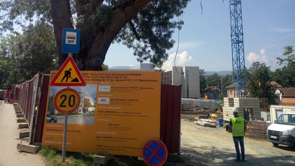 "U toku  izgradnja objekta ""Hotel Merkur"" u Vrnjačkoj Banji"